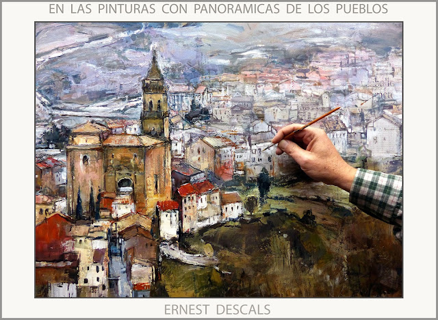 PINTURAS-PANORAMICAS-PUEBLOS-PINTAR-PAISAJES-PINTANDO-FOTOS-ARTISTA-PINTOR-ERNEST DESCALS-