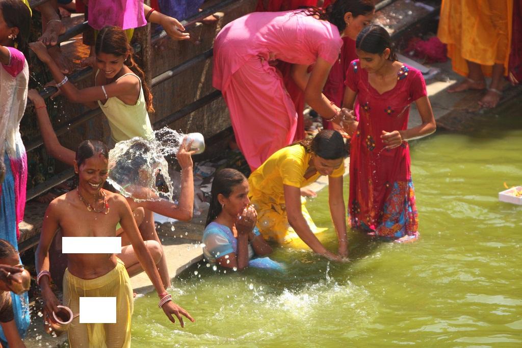 Nude Indian Girls River Bathing