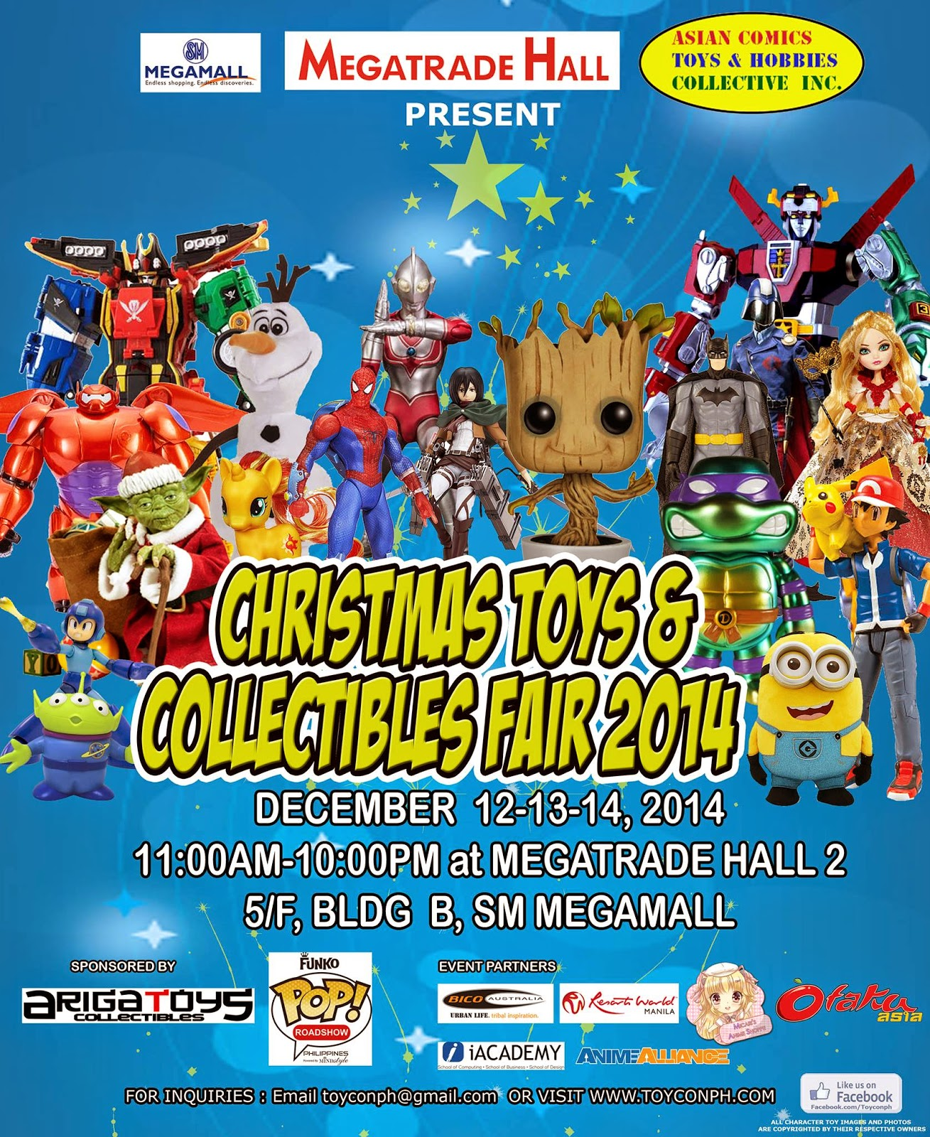 Christmas Toy and Collectibles Fair 2014 official event poster