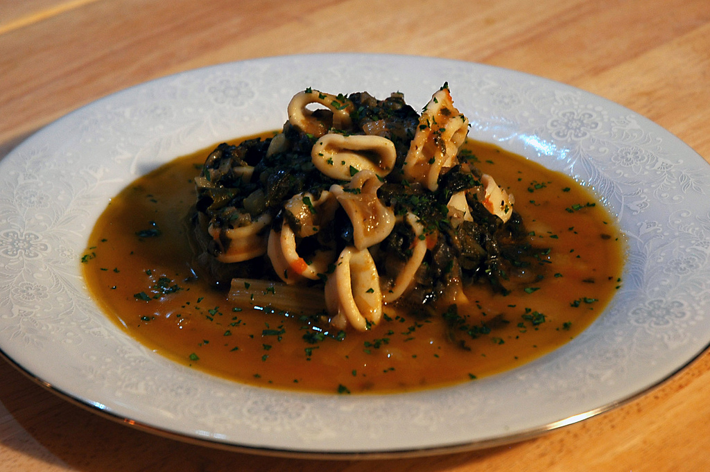 Calamari in Zimino: A Seafood Stew for Spring