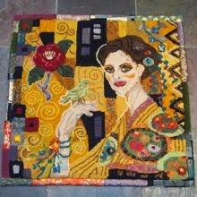 Klimt inspired rug
