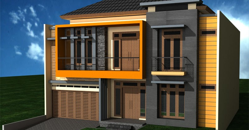 Rumah Minimalis Yes Cat Rumah Minimalis Warna Ungu Tampak