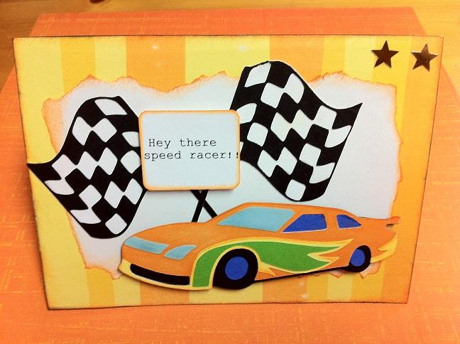 race car pop up card template