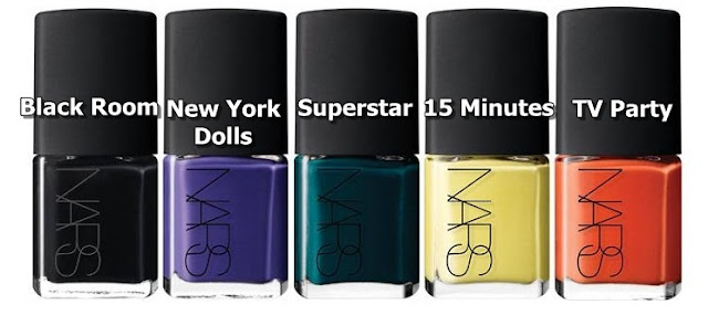 NARS Nailpolish Andy Warhol collection