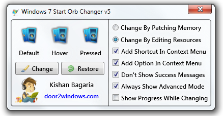 Windows 7 Orb Changer v5 + Pack de Orbs [U4]