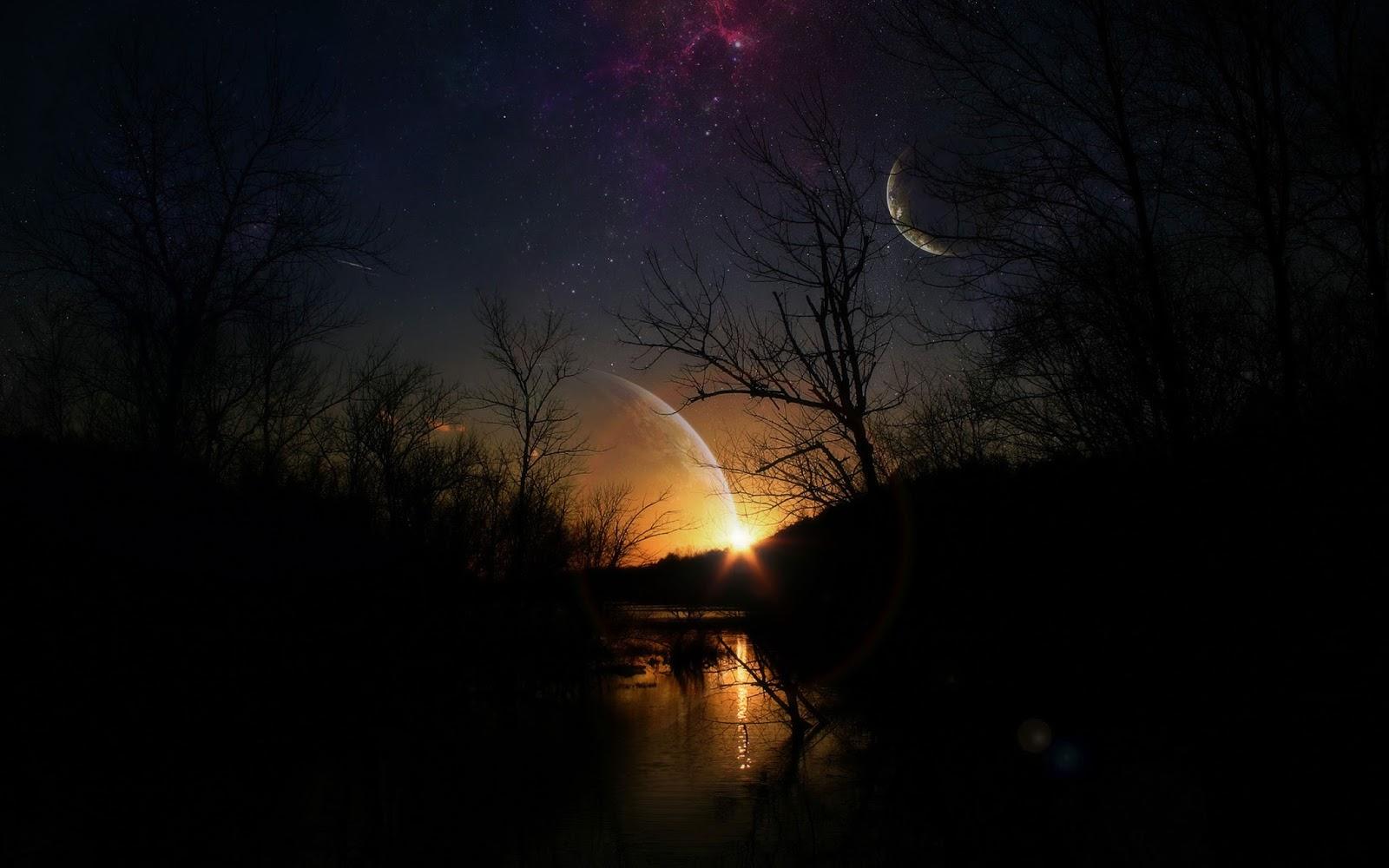 Beautiful Dark Sunset Nature Pictures