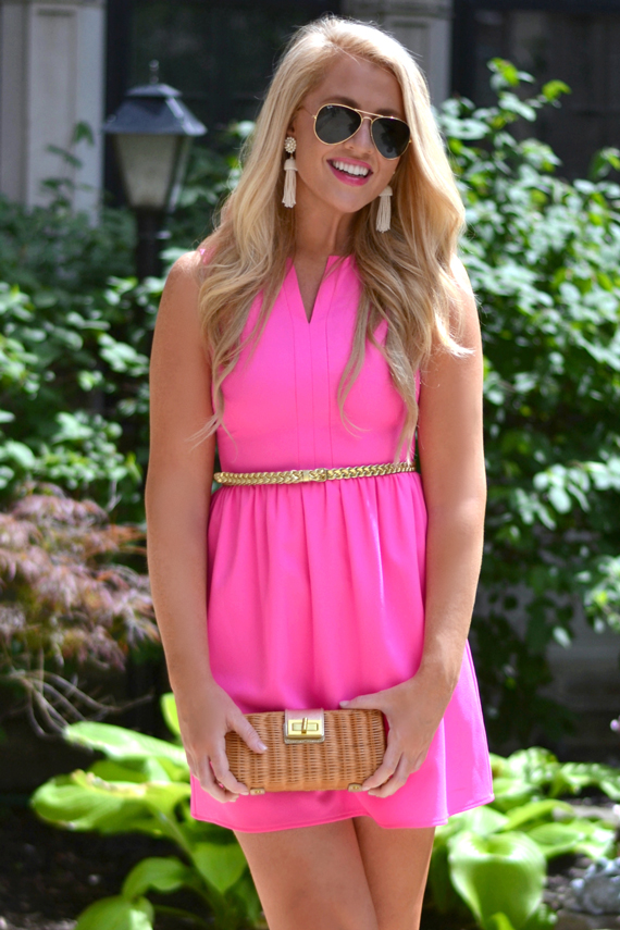 hot-pink-preppy-dress