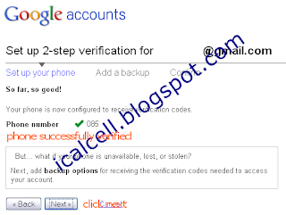 Setup Your Phone - Protect Google Account With 2-Step Verification