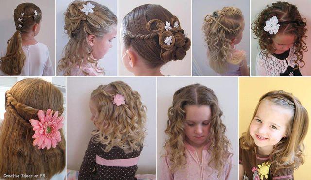 Детские прически на новый год на средние волосы