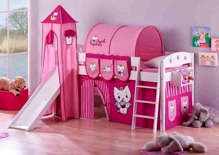 gambar kamar tidur hello kitty 2015 desain terbaru