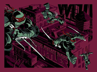 MondoCon 2015 Exclusive Teenage Mutant Ninja Turtles Variant Edition Screen Print by Ciro Nieli