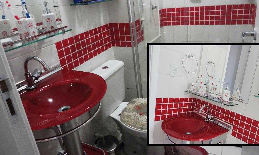 DIY Decoração Decorando banheiros -> Banheiro Adesivo Pastilha