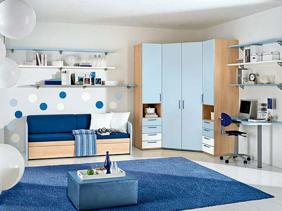 Dormitorio azul para jovencito adolescente dormitorios for Dormitorio adolescente