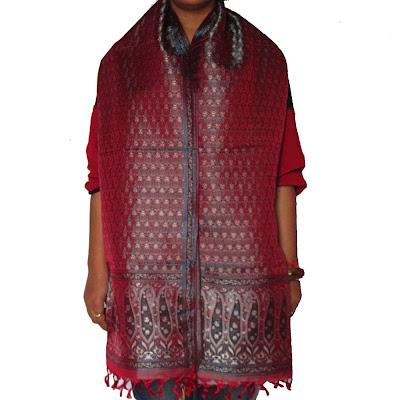 Antique Design Brocade Silk Scarves