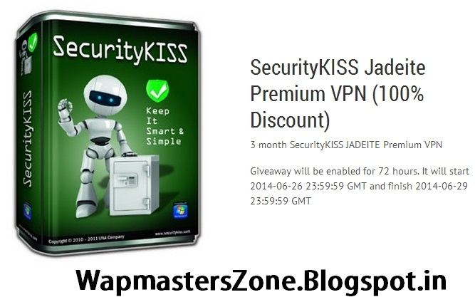 SecurityKISS Jadeite Premium VPN (100% Discount)