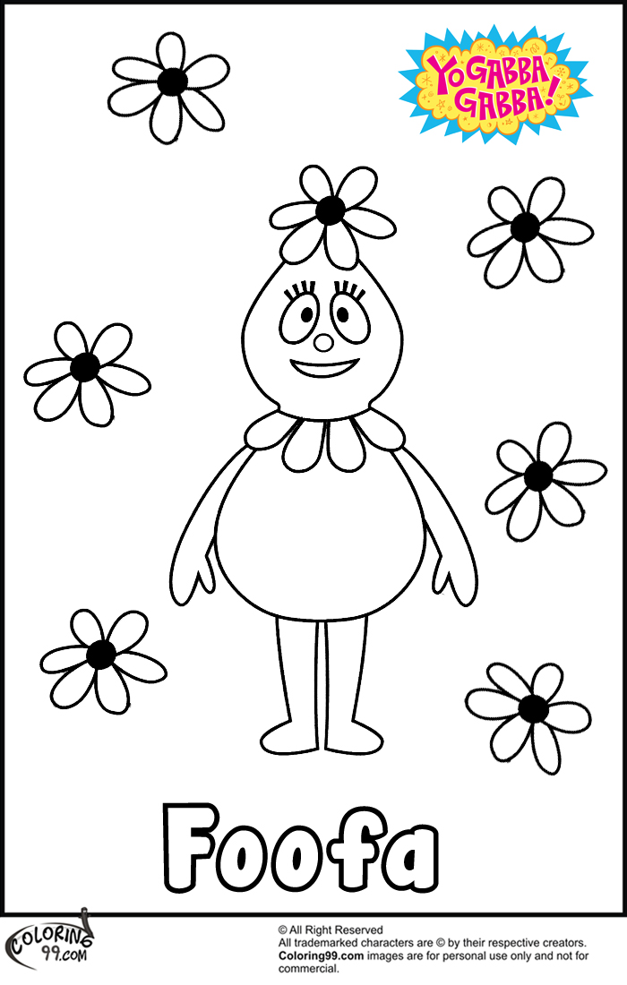 foofa flowers coloring pages
