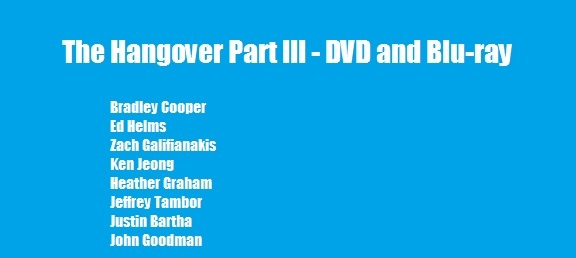 The Hangover Part III DVD release date