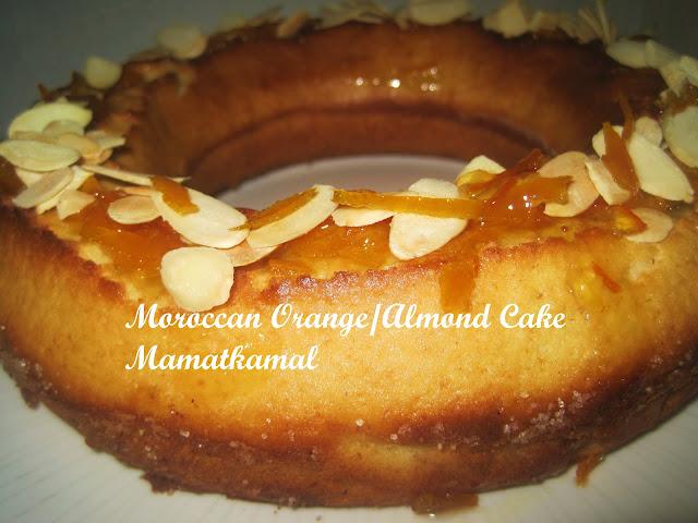 Meskouta or Maskouta / Moroccan Orange Cake (Butterless Cake) / Maskouta ou Meskouta, un gâteau Marocain à l'Orange et Amandes (Gâteau Sans Beurre)!  01