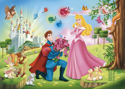 Princess Aurora and Prince Phillip Sleeping Beauty