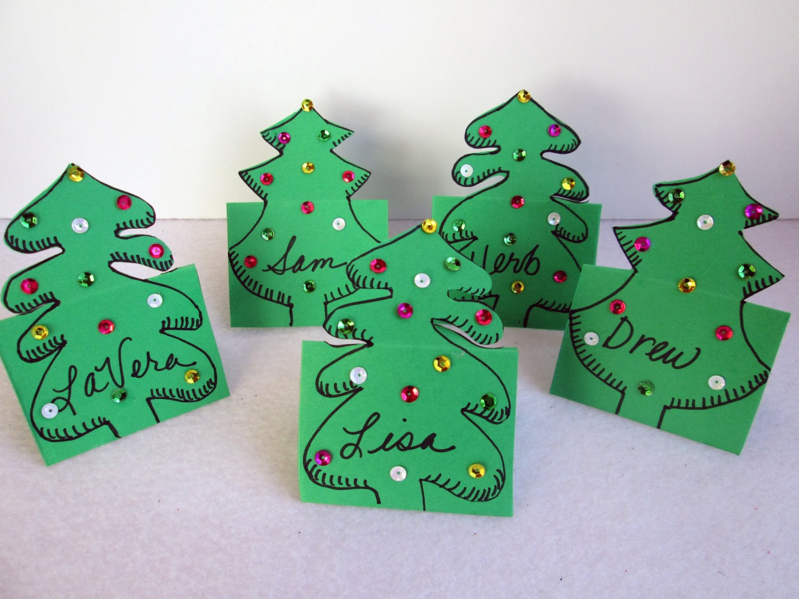 Tea with LaVera: Craft: Christmas Place Cards
