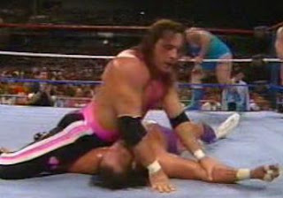 WWF / WWE SURVIVOR SERIES 1989 - Bret Hart attempts a pin on Randy Savage