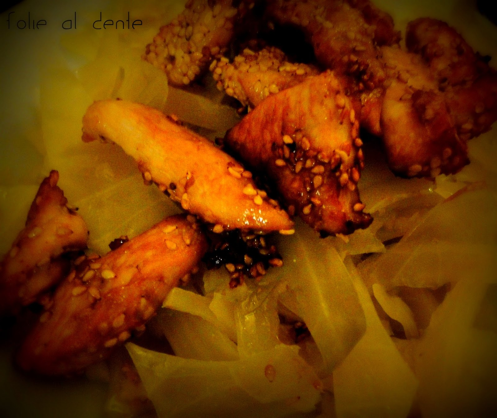 Folie al dente l gumes chou chinois et volaille - Cuisiner du choux chinois ...