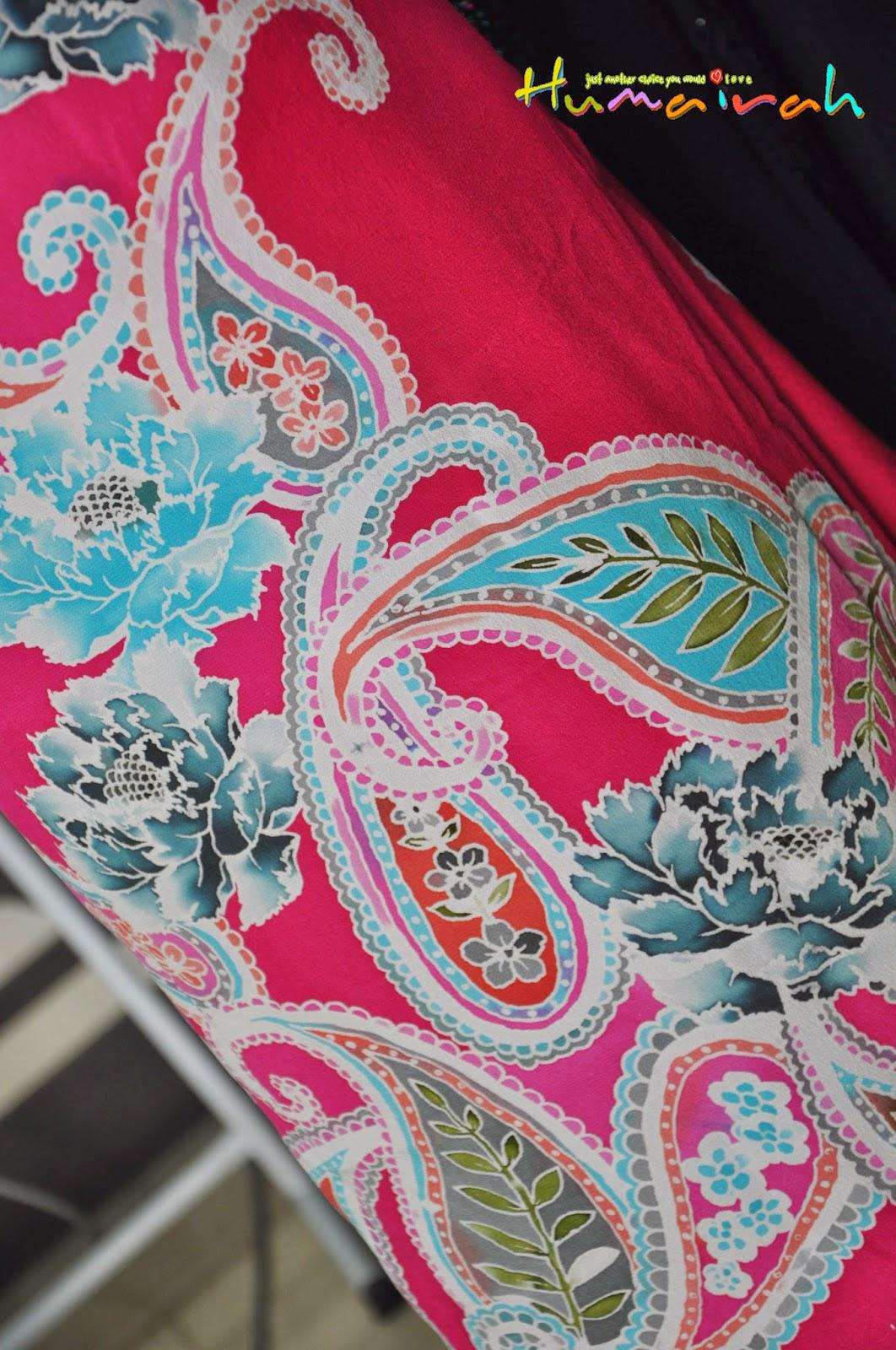 batik sutera paisley pink handmade 1