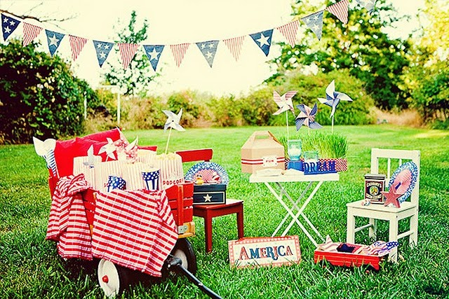 red white blue block party by paper cake via hostess with the