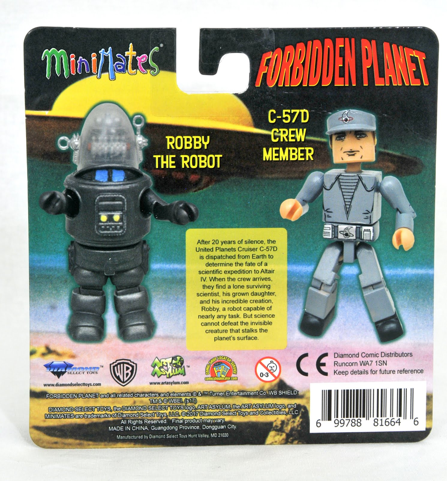 Forbidden Planet Minimates Robby the Robot /& C-57D Crew Member 2-Pack