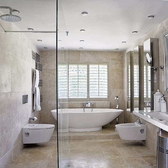 The paper mulberry bathroom master suite for Contemporary bathroom tiles design ideas