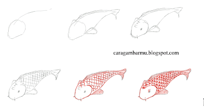 how to draw fish easily step by step for beginners kid and adult drawing