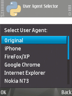 User Agent Changer Nokia S60v3