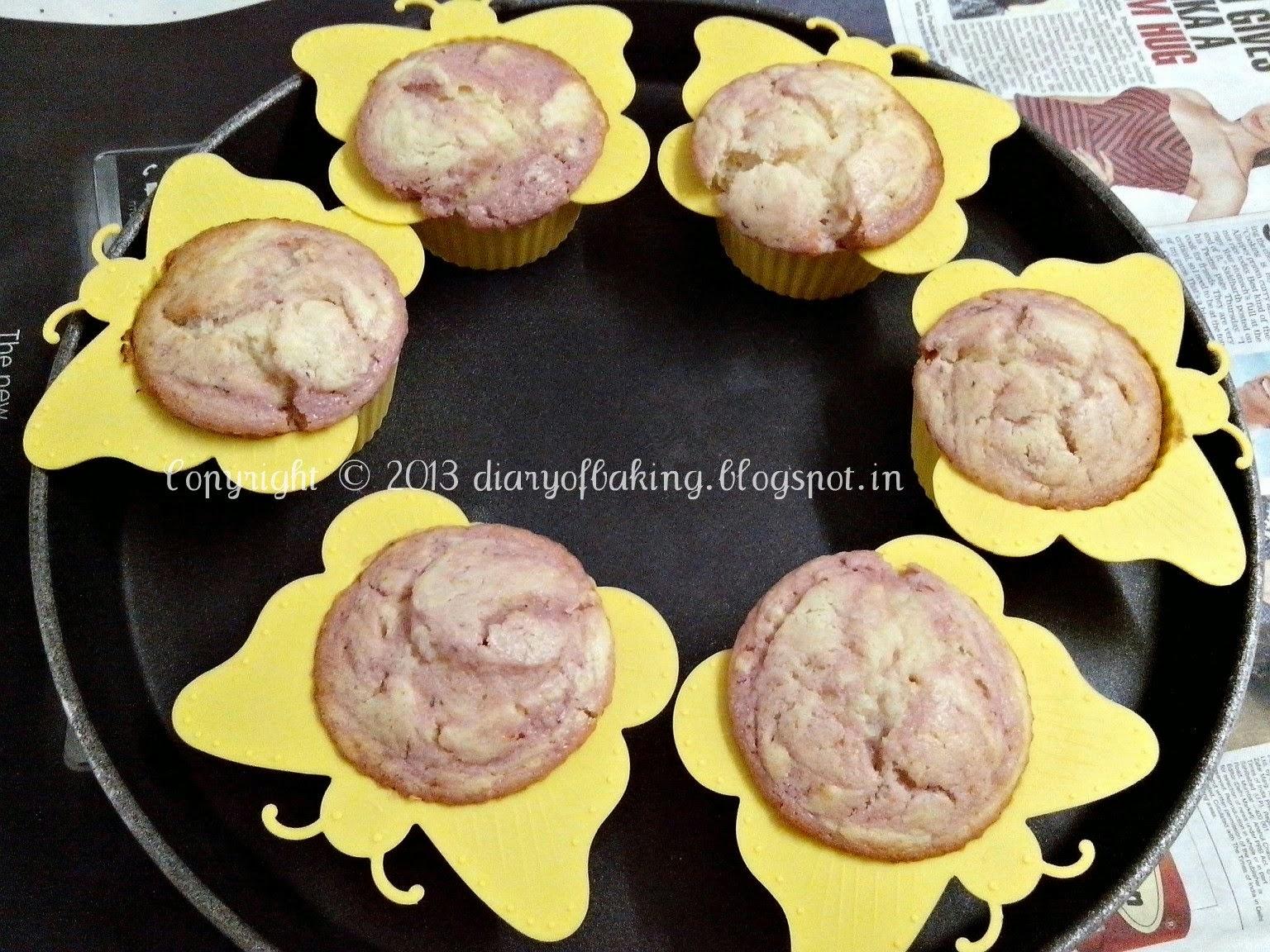 eggless jam muffins