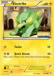 Electrike 41/124 Dragons Exalted Pokemon Card