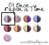 Glossip Make Up - Silk Duo Eyeshadow 01 Once upon a time