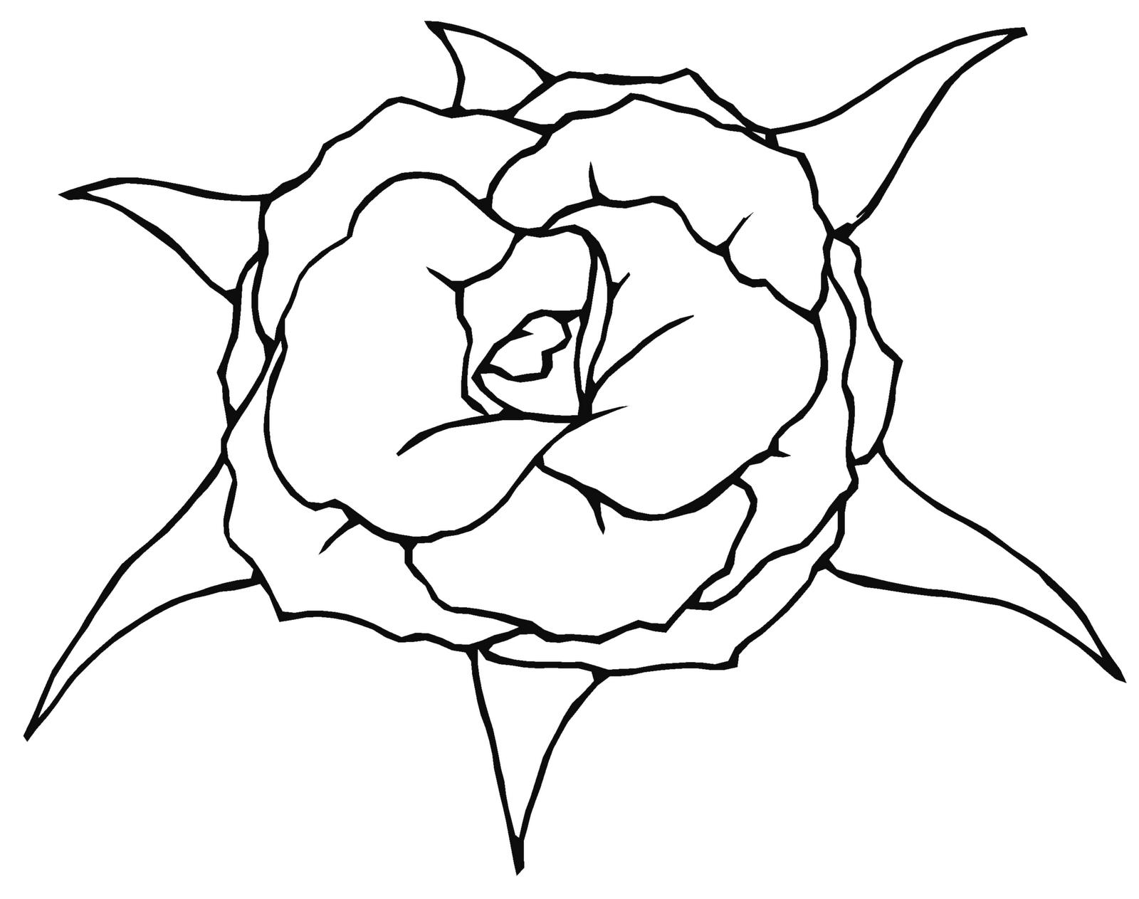 Line Art Rose Tattoo : Line art roses up for adoption reusage