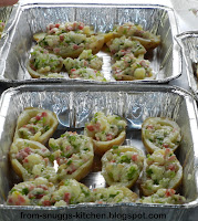 gefüllte Kartoffeln vom Grill