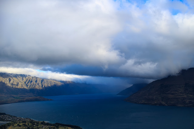 clouds over Lake Wakatipu