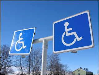 image of handicapped signs