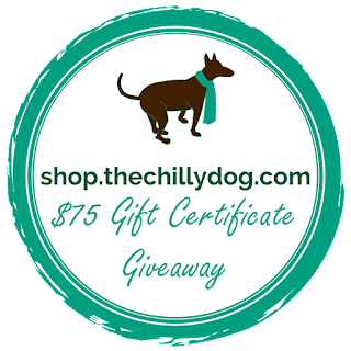 Grand Opening Giveaway - enter for your chance to win a $75 gift certificate for shop.thechillydog.com.