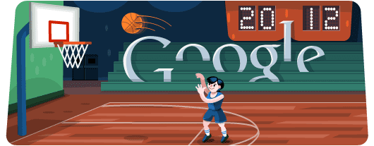 Google Doodles - Olympic Basketball 2012
