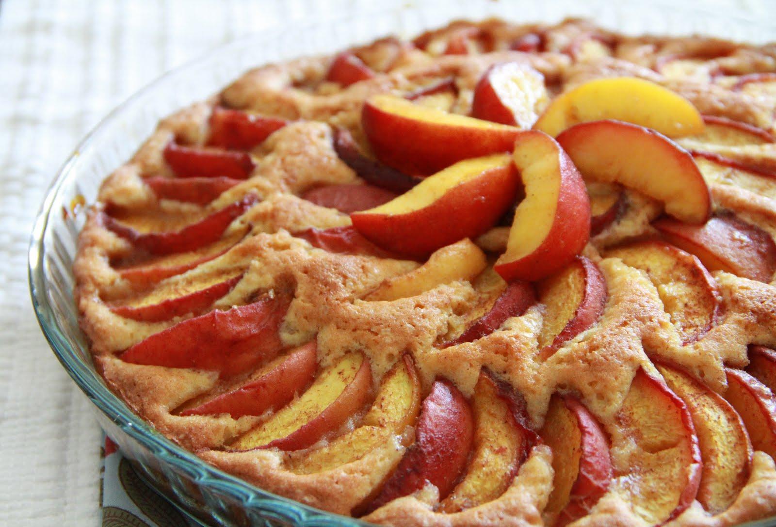 Irini Savva: Summer Peach Cake