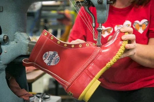L.L. Bean Makes Custom Boots for the World Series Champion Boston Red Sox 7a391a978156c