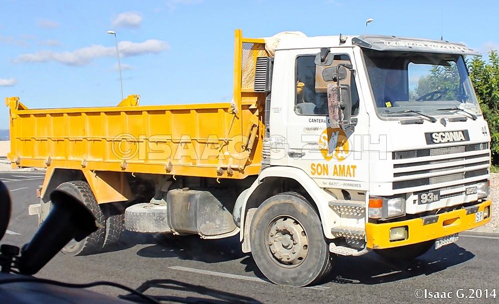 Camiones y autobuses en baleares n 44 scania 93h - Transporte islas baleares ...