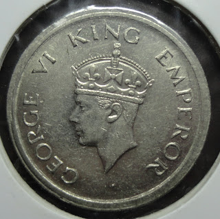 george vi one rupee 1947