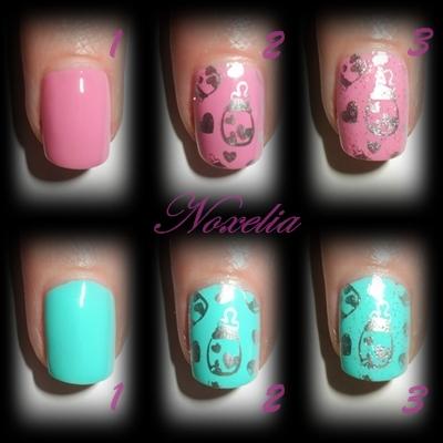 Noxelia stamping nail art look de u as n 79 - Pintaunas kiko efecto espejo ...