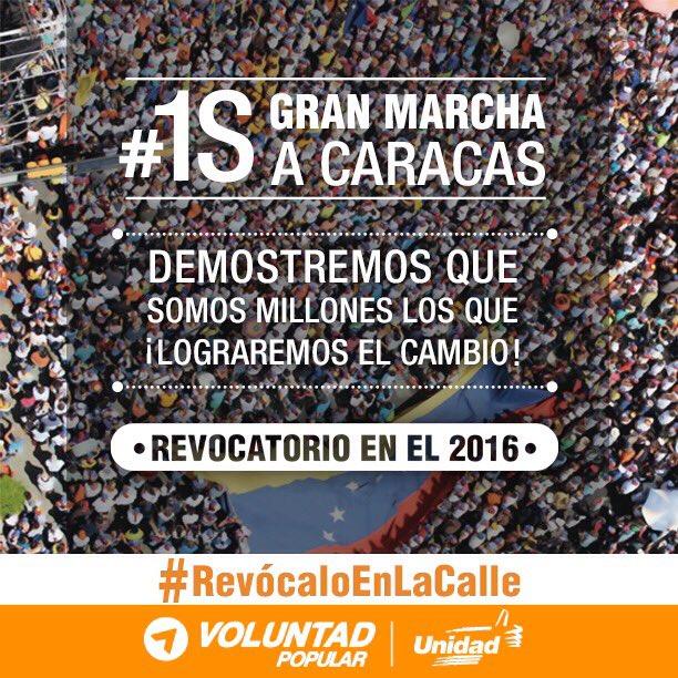 1º de setembro: Caracas