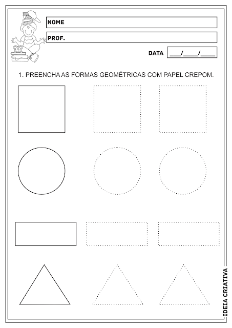 Formas Geométricas Educação Infantil Atividades