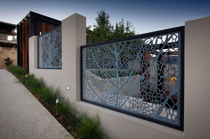 Fence in Modern backyard by Ritz Exterior Design