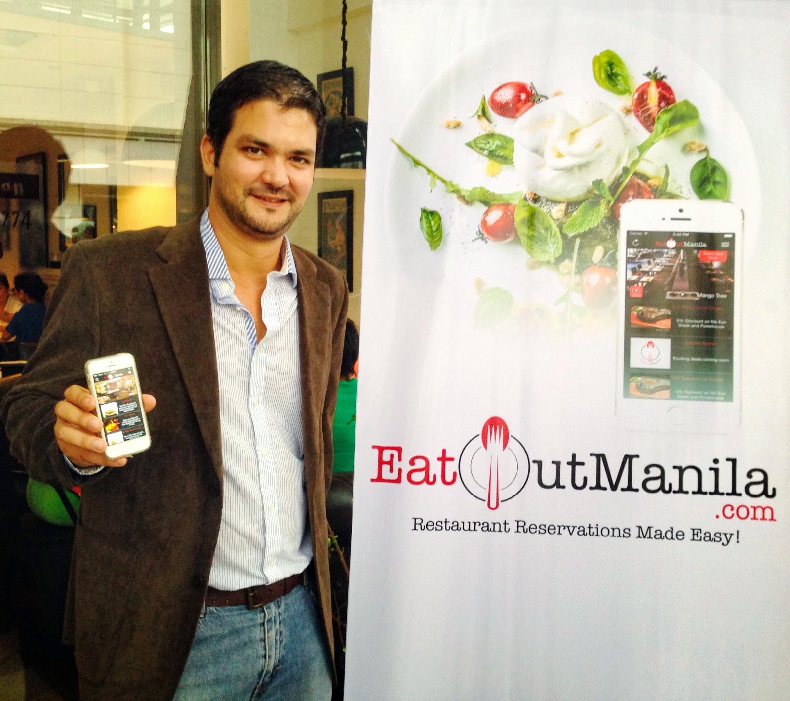 Iňaki Lamata shows Eat Out Manila app for iOS